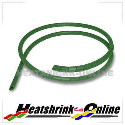 6mm Green Spiral Cable Binding Wrap Per 1 Metre