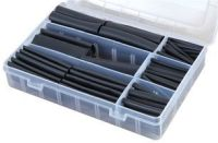 120 Piece Boxed Adhesive Glue Black Heatshrink Assortment Kit 3:1 Shrink Ratio
