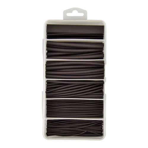 170 Piece Boxed Black Heatshrink Assortment Kit 2:1 Shrink Ratio