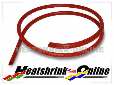 12mm Red Spiral Cable Binding Wrap Per 1 Metre