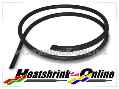 6mm Black Spiral Cable Binding Wrap Per 1 Metre