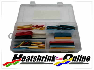 180 Piece Mixed Boxed Heatshrink Kit 3:1 Shrink Ratio