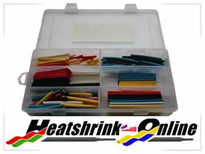180 Piece Mixed Boxed Heatshrink Kit 3:1 Shrink Ratio