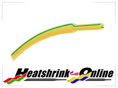 6mm Diameter Earth Green/Yellow Heatshrink