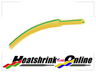 3mm Diameter Earth Green/Yellow Heatshrink