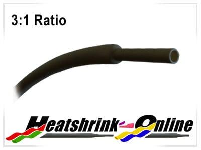 3mm Diameter Black Heatshrink 3:1