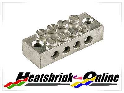 4 Way Metal Earth Terminal Block
