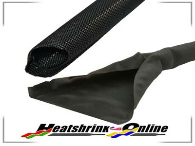 50mm x 2m Diameter Black Wraparound Protective Sleeving