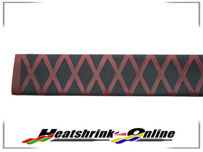 35mm Black/Red Non Slip Textured Heatshrink x 1m