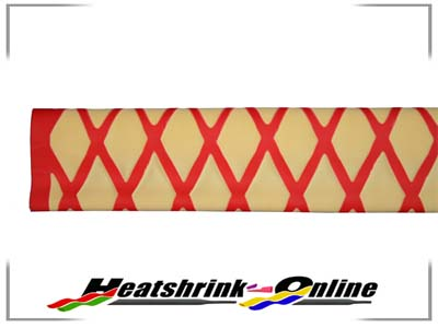 25mm Yellow/Red Non Slip Textured Heatshrink x 1m