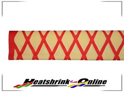 35mm Yellow/Red Non Slip Textured Heatshrink x 1m