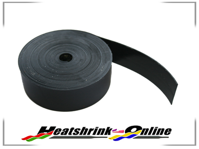 25mm x 5m Roll Black Heat Shrinkable Adhesive Lined Insulation Tape