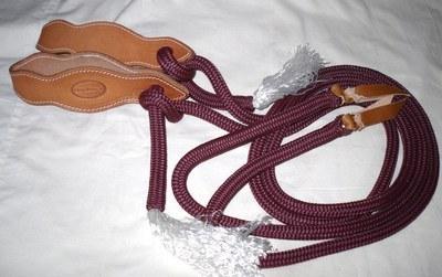 Split Rope Reins with Slobber Straps