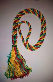 Multi-coloured neck straps