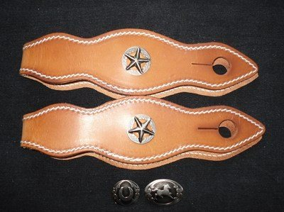 Slobber Straps/Rein Leathers with Choice of Conchos