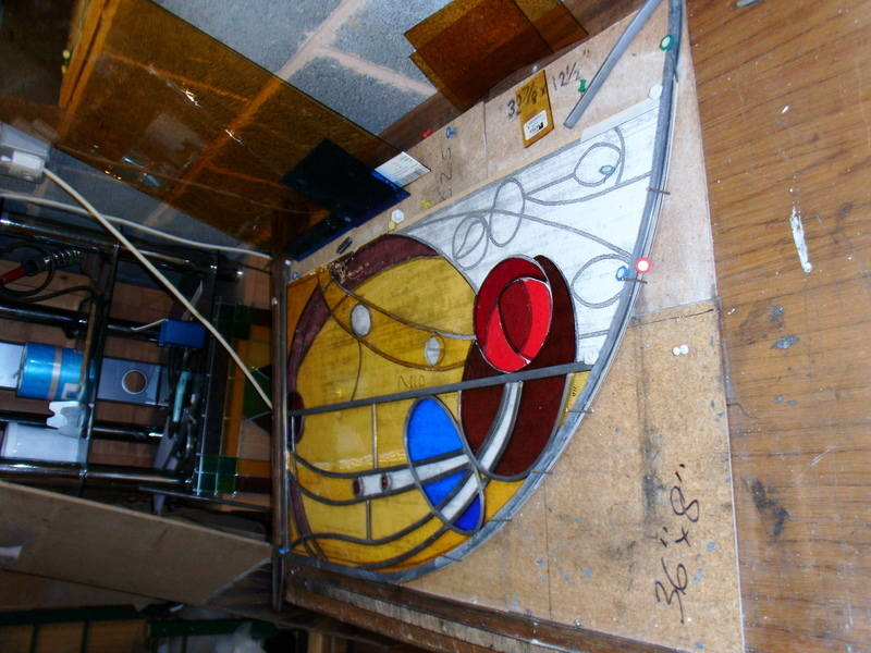 Stained Glass Panel being made
