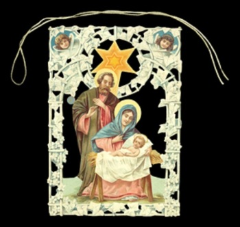 Christmas Mary Joseph Jesus Window Decoration