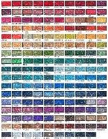 Glitter Colour Charts