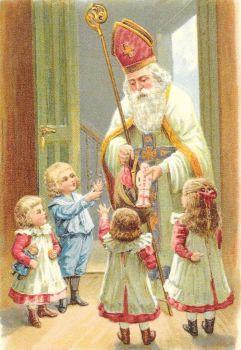 St Nicholas Christmas Santa Claus Post Card 3055