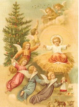 Christmas Angel Angels Cherub Jacobs Ladder Post Card Jesus