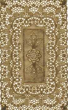Dresden Scrap Gold Paper Lace 1258-0