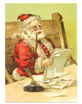 Antique Style Post Card Santa Claus Father Christmas Naughty Or Nice