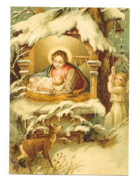 Antique Style Post Card Christmas Mary Jesus Christ