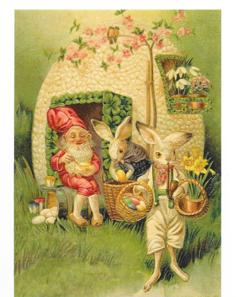 Antique Style Post Card Easter Sacred Lamb