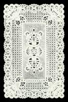 Dresden die cut scrap ornament white paper lace