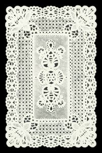 Dresden die cut scrap ornament white paper lace