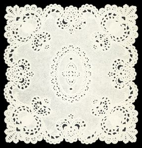 Dresden die cut scrap ornament white paper lace Large