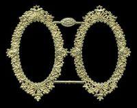 Dresden Scrap Gold Ornament 1188 Frame