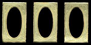 Dresden Scrap Gold Ornament Miniature