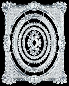 Dresden Scrap Silver Ornament Frame 1192 5