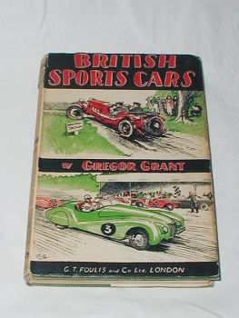 British Sports Club Racing Cars Vintage Book By Gregor Grant