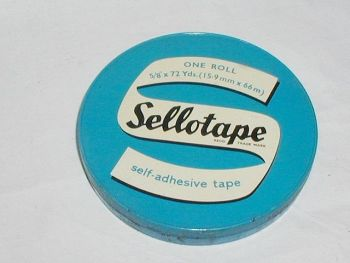Vintage Sellotape Advertising Tin