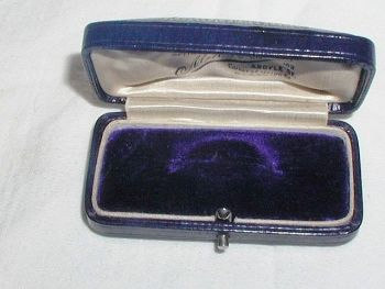 Antique Blue Velvet Jewellery Display Box Muir & Sons Glasgow