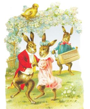 5110 - Easter Bunny decoupage scrap book ing