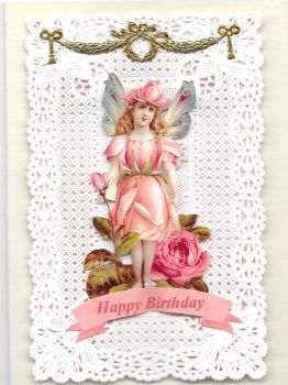 Enchanted Fairy Paper Lace Greeting Card Happy Birthday EFPL1