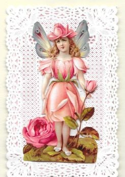 Enchanted Fairy Paper Lace Greeting Card Happy Birthday EFPL3