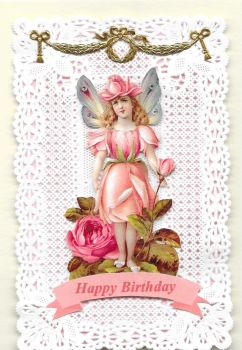 Enchanted Fairy Paper Lace Greeting Card Happy Birthday EFPL2