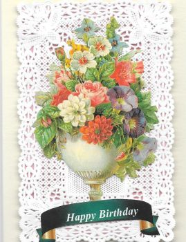 Paper Lace Birthday Card