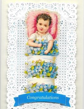 Congratulations Baby Greeting Card Blue