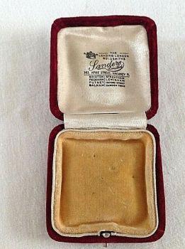 Antique Jewellery Brooch pin display box Landers Hackney London