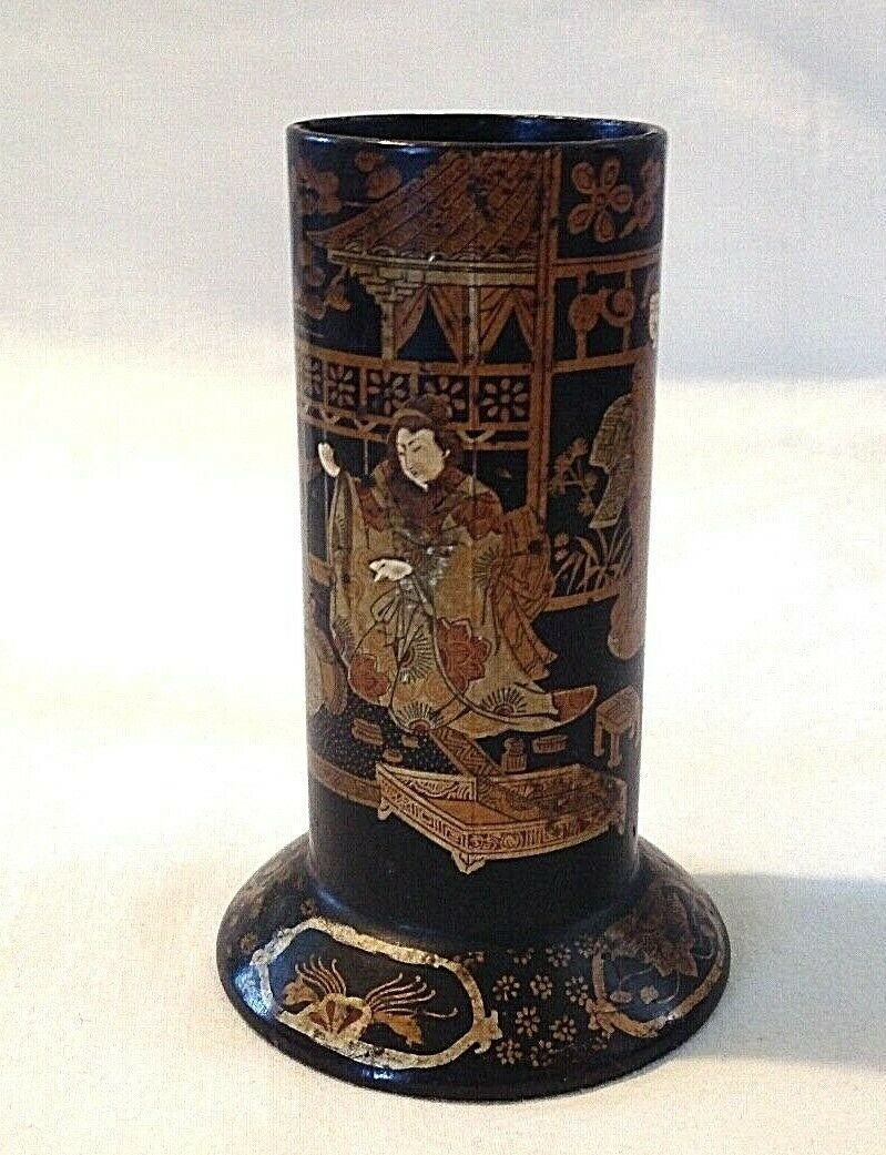 Antique Chinese Enamel Snuff Bottle Diety God