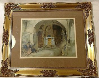 antique vintage ? print Spanish theme after Sir William Russel Flint Watercolour