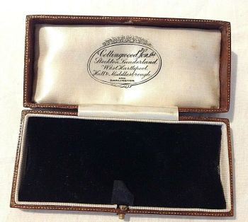 Antique watch display box black velvet leather Darlington Stockton Sunderland Hull