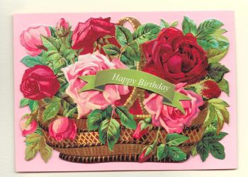Flower Basket Birthday Card