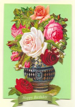 Flowers Vase  Birthday Card