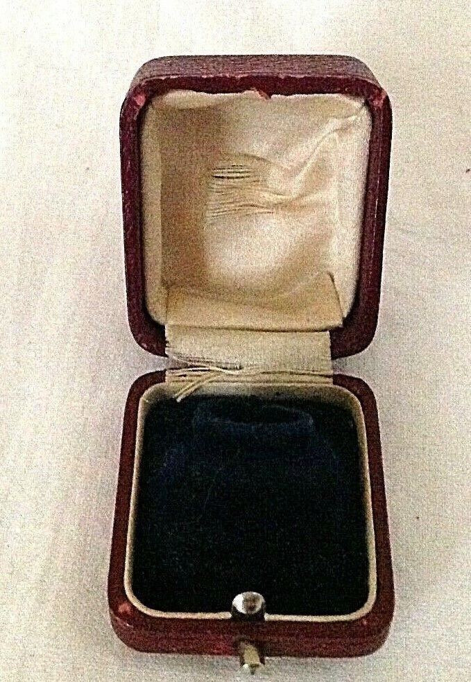 Antique Blue Velvet Jewellery Display Box Brooch Earrings Diamond Merchants
